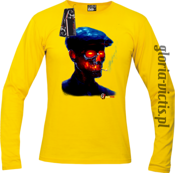 Fire Skull Smoking Gloria - Longsleeve męski