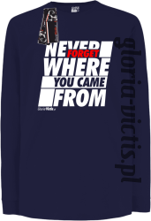 Never Forget Where You Came From - Longsleeve dziecięcy granat