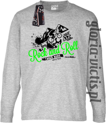 Rock and Roll Bike Ride EST 1765 - Longsleeve dziecięcy - melanż