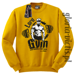 Lord GYM Stop Wishing Start Doing - Bluza męska Standard - żółty