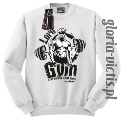 Lord GYM Stop Wishing Start Doing - Bluza męska Standard - biały