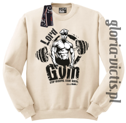 Lord GYM Stop Wishing Start Doing - Bluza męska Standard - beżowy