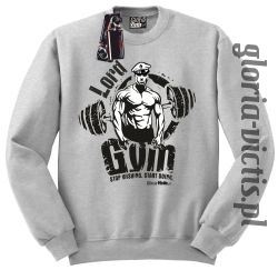 Lord GYM Stop Wishing Start Doing - Bluza męska Standard - melanż