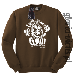 Lord GYM Stop Wishing Start Doing - Bluza męska Standard - brązowy