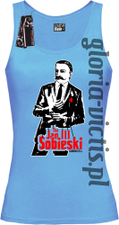 The Jan III Sobieski Modern Style - Top damski - błękitny