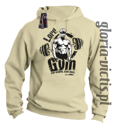 Lord GYM Stop Wishing Start Doing - Bluza męska z kapturem - beżowa